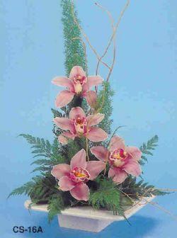 Van çiçekçi telefonları  vazoda 4 adet orkide