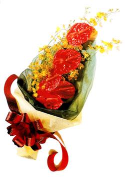 özel 5 adet antorium buketi   Van çiçek gönderme sitemiz güvenlidir
