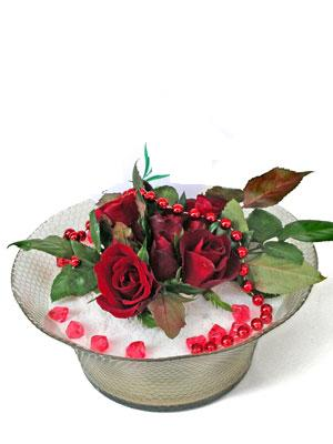 Van çiçek siparişi vermek  EN ÇOK Sevenlere 7 adet kirmizi gül mika yada cam tanzim