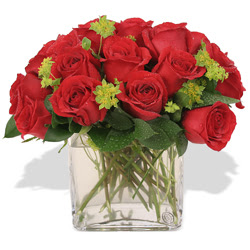 Van çiçekçi telefonları  10 adet kirmizi gül ve cam yada mika vazo