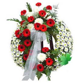 Cenaze çelengi cenaze çiçek modeli  Van uluslararası çiçek gönderme