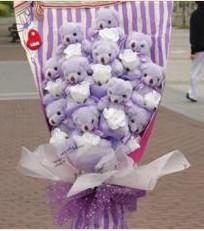 11 adet pelus ayicik buketi  Van çiçek gönderme sitemiz güvenlidir