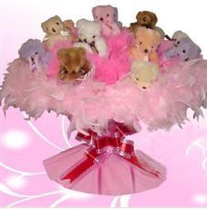 11 adet pelus ayicik buketi  Van çiçek satışı