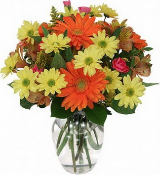 Van hediye sevgilime hediye çiçek  vazo içerisinde karışık mevsim çiçekleri