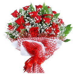 11 kırmızı gülden buket  Van 14 şubat sevgililer günü çiçek