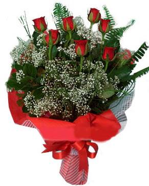 7 kırmızı gül buketi  Van çiçek servisi , çiçekçi adresleri