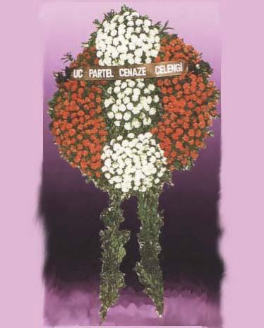 Van online çiçekçi , çiçek siparişi  Üç partel çelenk sadece cenaze
