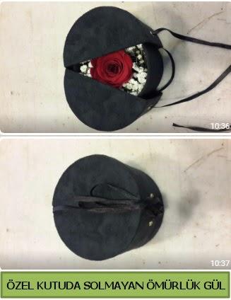 Solmayan ömürlük gül şoklanmış gül  Van çiçek gönderme