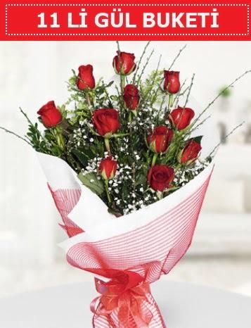 11 adet kırmızı gül buketi Aşk budur  Van çiçek gönderme sitemiz güvenlidir