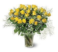 Van çiçek siparişi sitesi  15 adet sarigül mika yada cam vazoda