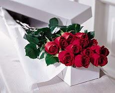 Van çiçek satışı  özel kutuda 12 adet gül