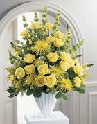Van çiçek siparişi sitesi  sari güllerden sebboy tanzim çiçek siparisi