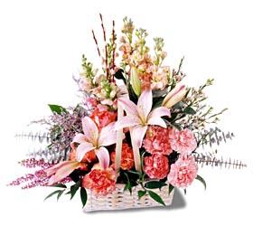 Van çiçek siparişi sitesi  mevsim çiçekleri sepeti özel tanzim