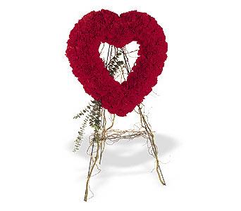 Van internetten çiçek satışı  karanfillerden kalp pano