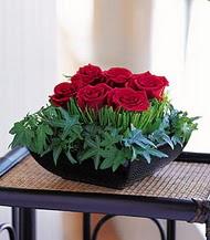 Van çiçek siparişi sitesi  10 adet kare mika yada cam vazoda gül tanzim