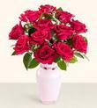 Van hediye çiçek yolla  10 kirmizi gül cam yada mika vazo tanzim