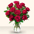 Van çiçek yolla  10 adet gül cam yada mika vazo da