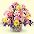 Van uluslararası çiçek gönderme  sepet içerisinde gül ve mevsim