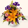 Van 14 şubat sevgililer günü çiçek  sepet içinde karisik çiçekler
