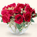 Van çiçek online çiçek siparişi  mika yada cam içerisinde 10 gül - sevenler için ideal seçim -