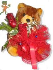 oyuncak ayi ve gül tanzim  Van çiçekçiler