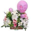 balon ve çiçeklerle tanzim  Van internetten çiçek satışı