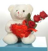 3 adetgül ve oyuncak   Van online çiçekçi , çiçek siparişi