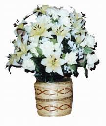 yapay karisik çiçek sepeti   Van çiçek mağazası , çiçekçi adresleri