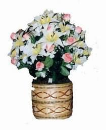 yapay karisik çiçek sepeti   Van çiçek servisi , çiçekçi adresleri