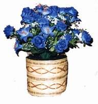 yapay mavi çiçek sepeti  Van cicekciler , cicek siparisi