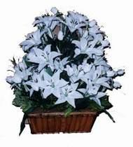 yapay karisik çiçek sepeti   Van online çiçek gönderme sipariş