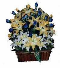 yapay karisik çiçek sepeti   Van çiçek gönderme