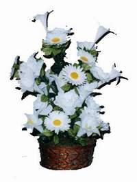 yapay karisik çiçek sepeti  Van çiçek siparişi vermek