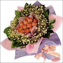 11  adet  gül ve   elyaflar   Van çiçekçi mağazası