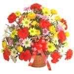 karisik renkli çiçek sepet   Van çiçek gönderme sitemiz güvenlidir
