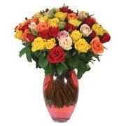 51 adet gül ve kaliteli vazo   Van çiçek gönderme sitemiz güvenlidir