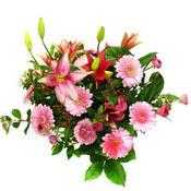 lilyum ve gerbera çiçekleri - çiçek seçimi -  Van çiçek gönderme