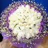71 adet beyaz gül buketi   Van çiçek , çiçekçi , çiçekçilik