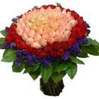 71 adet renkli gül buketi   Van ucuz çiçek gönder
