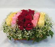15 adet reprenkli gül sepeti   Van çiçek yolla