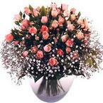 büyük cam fanusta güller   Van çiçek yolla