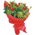 10 adet kirmizi gül buketi  Van çiçek yolla