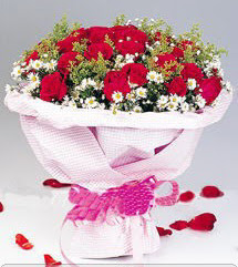 Van internetten çiçek satışı  12 ADET KIRMIZI GÜL BUKETI