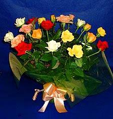 Van hediye çiçek yolla  13 adet karisik renkli güller