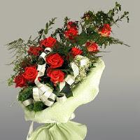 Van ucuz çiçek gönder  11 adet kirmizi gül buketi sade haldedir