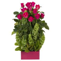 12 adet kirmizi gül aranjmani  Van çiçek mağazası , çiçekçi adresleri
