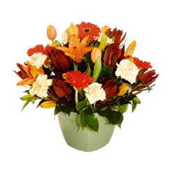 mevsim çiçeklerinden karma aranjman  Van çiçek yolla , çiçek gönder , çiçekçi