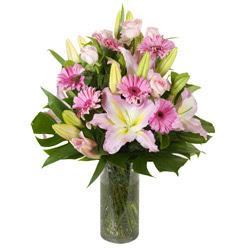 vazo içerisinde karisik mevsim çiçekleri  Van internetten çiçek siparişi