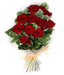 Van çiçek yolla , çiçek gönder , çiçekçi   9 lu kirmizi gül buketi.