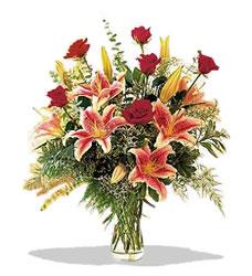 Van çiçek servisi , çiçekçi adresleri  Pembe Lilyum ve Gül